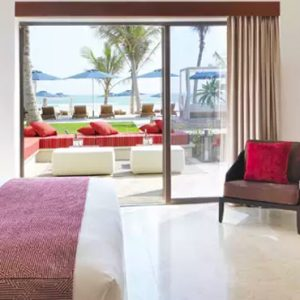 Oman Honeymoon Packages Al Baleed Resort Salalah By Anantara Deluxe Beach View Room Bedroom