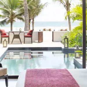 Oman Honeymoon Packages Al Baleed Resort Salalah By Anantara One Bedroom Beach Pool Villa Bedroom 2