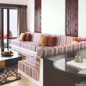Oman Honeymoon Packages Al Baleed Resort Salalah By Anantara One Bedroom Garden View Villa Living Room