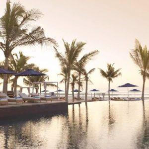 Oman Honeymoon Packages Al Baleed Resort Salalah By Anantara Pool At Sunset