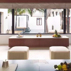 Oman Honeymoon Packages Al Baleed Resort Salalah By Anantara Two Bedroom Garden View Pool Villa Living Room
