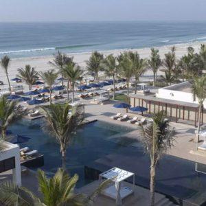 Oman Honeymoon Packages Al Baleed Resort Salalah By Anantara Infinity Pool Overview