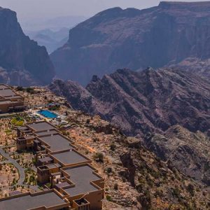Oman Honeymoon Packages Anantara Al Jabal Al Akhdar Resort Aerial View