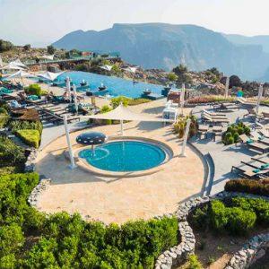 Oman Honeymoon Packages Anantara Al Jabal Al Akhdar Resort Aerial View 2