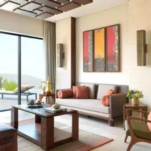 Oman Honeymoon Packages Anantara Al Jabal Al Akhdar Resort One Bedroom Cliff Pool Villa Living Room
