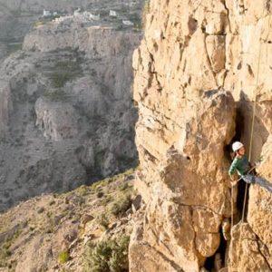 Oman Honeymoon Packages Anantara Al Jabal Al Akhdar Resort Rock Climbing