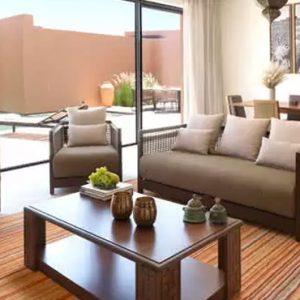 Oman Honeymoon Packages Anantara Al Jabal Al Akhdar Resort Two Bedroom Garden Pool Villa Living Room