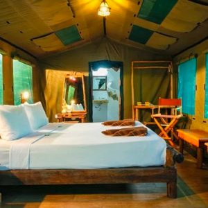 Thailand Honeymoon Packages Elephant Hills Single Or Double Tent Bedroom 2