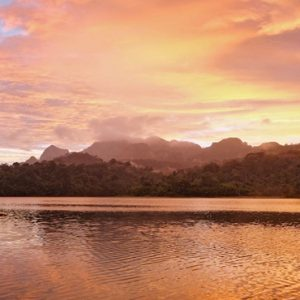 Thailand Honeymoon Packages Elephant Hills Stunning Sunset View At Rainforest Camp