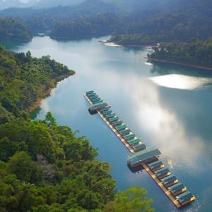 Thailand Honeymoon Packages Elephant Hills Aerial View Of Rainforest Camp1