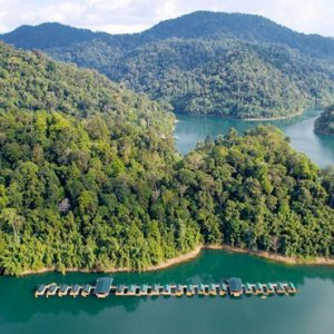 Thailand Honeymoon Packages Elephant Hills Aerial View Of Rainforest Camp2