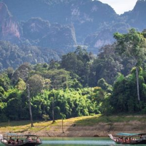Thailand Honeymoon Packages Elephant Hills Long Tailed Boat On Lake