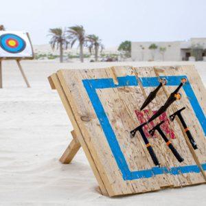 Abu Dubai Honeymoon Packages Jumeirah Al Wathba Axe And Knife Activity