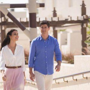 Abu Dubai Honeymoon Packages Jumeirah Al Wathba Couple Walks
