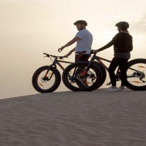 Abu Dubai Honeymoon Packages Jumeirah Al Wathba Fatbiking On The Dune