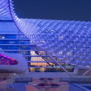 Abu Dubai Honeymoon Packages W Abu Dhabi Yas Island Exterior At Night