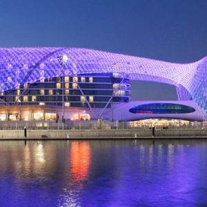 Abu Dubai Honeymoon Packages W Abu Dhabi Yas Island Exterior At Night2