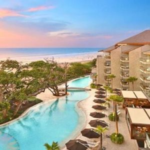 Bali Honeymoon Packages Double Six Luxury Hotel, Seminyak Hotel Overview At Sunset