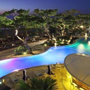 Bali Honeymoon Packages Double Six Luxury Hotel, Seminyak Pool At Night
