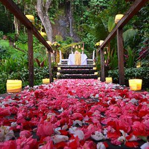 Bali Honeymoon Packages The Royal Pita Maha Waterfall Romantic Dining