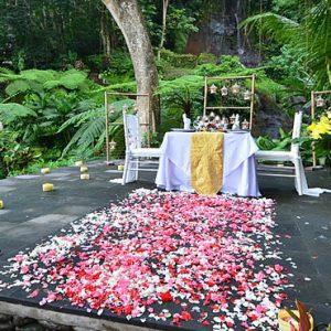 Bali Honeymoon Packages The Royal Pita Maha Waterfall Romantic Dining1