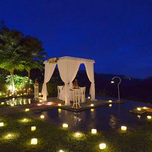 Bali Honeymoon Packages The Royal Pita Maha Romantic Dinner In Ayung River