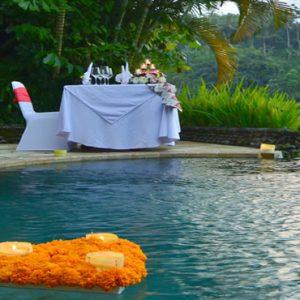 Bali Honeymoon Packages The Royal Pita Maha Romantic Dinner In Villa
