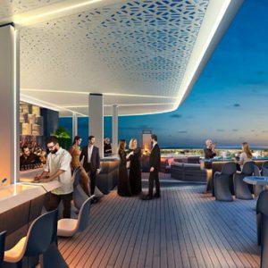 Dubai Honeymoon Packages JA Lake View Hotel Bibe Roof Top Bar