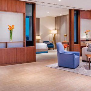 Dubai Honeymoon Packages JA Lake View Hotel Luxury One Bedroom Suite Living Room