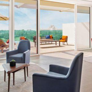 Dubai Honeymoon Packages JA Lake View Hotel One Bedroom Terrace Suite Living Room