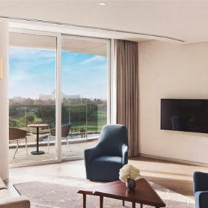 Dubai Honeymoon Packages JA Lake View Hotel Resort Course One Bedroom Suite Living Room