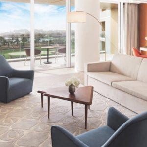 Dubai Honeymoon Packages JA Lake View Hotel Resort Course One Bedroom Suite Living Room1