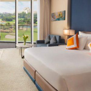 Dubai Honeymoon Packagess JA Lake View Hotel Deluxe Resort Course View Bedroom