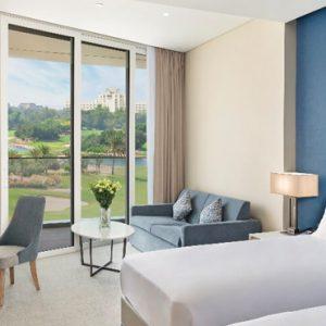 Dubai Honeymoon Packagess JA Lake View Hotel Deluxe Resort Course View Bedroom 2