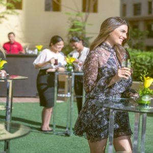 Dubai Honeymoon Packages Amwaj Rotana Drinks Outdoor