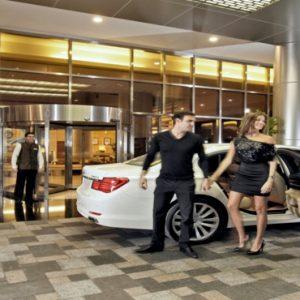 Dubai Honeymoon Packages Amwaj Rotana Hotel Entrance And Car Transfer
