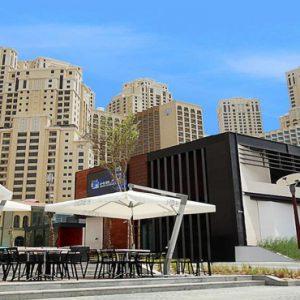 Dubai Honeymoon Packages Amwaj Rotana Hotel Exterior Restaurants Area