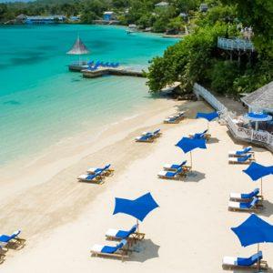 Jamaica Honeymoon Packages Sandals Royal Plantation Jamaica Beach 2