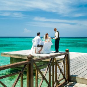 Jamaica Honeymoon Packages Sandals Royal Plantation Jamaica Private Dining