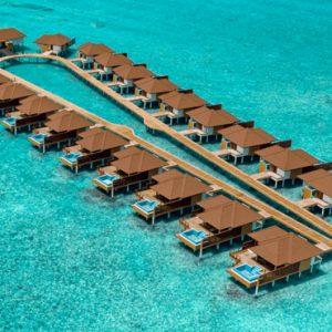 Maldives Honeymoon Packages Varu By Atmosphere Aerial View Of Watervillas