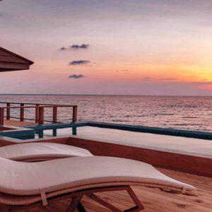 Maldives Honeymoon Packages Varu By Atmosphere Water Suite Exterior Pool At Sunset