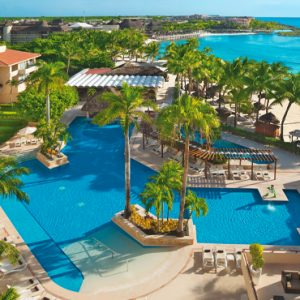 Mexico Honeymoon Packages Dreams Puerto Aventuras Resort & Spa Aerial View