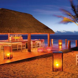 Mexico Honeymoon Packages Dreams Puerto Aventuras Resort & Spa Beach Bar At Night