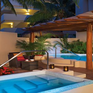 Mexico Honeymoon Packages Dreams Puerto Aventuras Resort & Spa Outdoor Jacuzzi