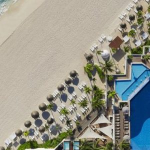 Aerial View Now Emerald Cancun Mexico Honeymoons