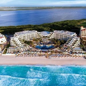 Aerial View2 Now Emerald Cancun Mexico Honeymoons