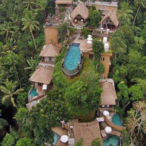 Bali Honeymoon Packages The Kayon Resort By Pramana Aerial View