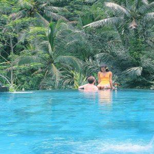 Bali Honeymoon Packages The Kayon Resort By Pramana Couple In Pool