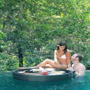 Bali Honeymoon Packages The Kayon Resort By Pramana Floating Breakfast In Pool
