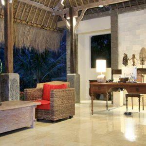 Bali Honeymoon Packages The Kayon Resort By Pramana Reception At Night